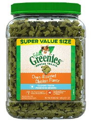 Feline Greenies - Chicken Flavor Dental Treats - Cat Treats - 21 oz