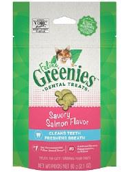 Feline Greenies - Salmon Flavor Dental Treats - Cat Treats - 2.1 oz