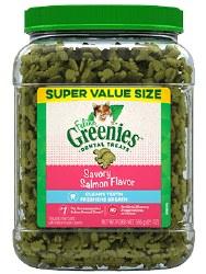 Feline Greenies - Salmon Flavor Dental Treats - Cat Treats - 21 oz