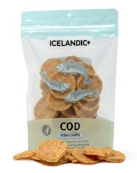 Icelandic+ - Dog Treats - Cod Fish Chips - 2.5 oz