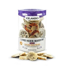 Icelandic+ - Dog Treats - Lamb Horn Marrow Chips - 2.5 oz