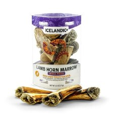 Icelandic+ - Dog Treats - Lamb Horn Marrow Whole Pieces - 2.5 oz