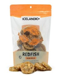 Icelandic+ - Dog Treats - Redfish Skin Rolls - 2.5 oz