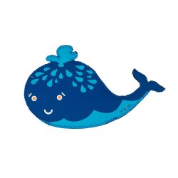 Jax & Bones - Neoprene Dog Toy - Squirt Whale