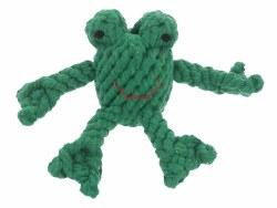 Jax & Bones - Rope Dog Toy - Frog - Small