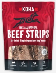 Koha - Beef Strips - Dog Treats - 4 oz