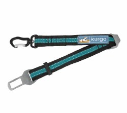 Kurgo - Seatbelt Tether with Swivel - Black and Blue