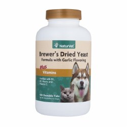 NaturVet - Brewer's Dried Yeast with Garlic Plus Vitamins - Chewable Tablets - 500 ct