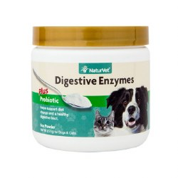 NaturVet - Digestive Enzymes Plus Probiotics for Dogs & Cats - Powder - 8 oz