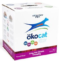 Okocat - Natural Long-Hair Wood Clumping Cat Litter - 13.5lb