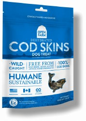 Open Farm - Dehydrated Cod Skins - Dog Treats - 2.25 oz