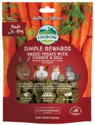 Oxbow Simple Rewards - Baked Treats with Carrot and Dill - 2 oz
