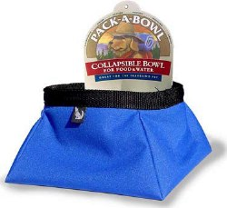 Color Pet - Pack-A-Bowl - 1 Liter - Blue
