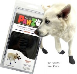 Pawz Dog Boots - Black - Medium