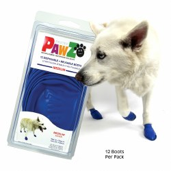 Pawz Dog Boots - Blue - Medium