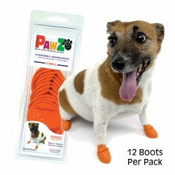 Pawz Dog Boots - Orange - Extra Small