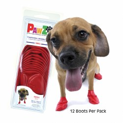 Pawz Dog Boots - Red - Small
