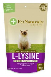Pet Naturals - L-Lysine for Cats - 60 ct