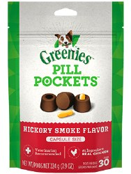 Greenies - Canine Pill Pockets - Hickory Smoke Capsules - 7.9 oz