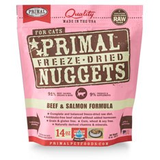 Primal - Beef and Salmon Formula - Freeze Dried Cat Food - 14 oz