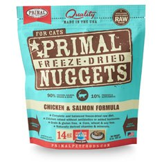 Primal - Chicken and Salmon Formula - Freeze Dried Cat Food - 14 oz