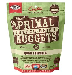 Primal - Quail Formula - Freeze Dried Cat Food - 5.5 oz