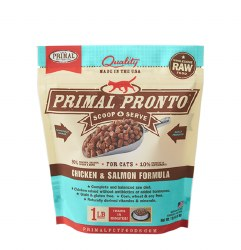 IN STORE AND CURB-SIDE PICK UP ONLY - Primal Pronto - Chicken and Salmon Formula - Raw Cat Food - 1 lbs