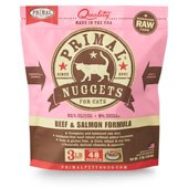 IN STORE AND CURB-SIDE PICK UP ONLY - Primal - Beef and Salmon Formula - Raw Cat Food - 3 lb