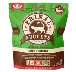 IN STORE AND CURB-SIDE PICK UP ONLY - Primal - Duck Formula - Raw Cat Food - 3 lb