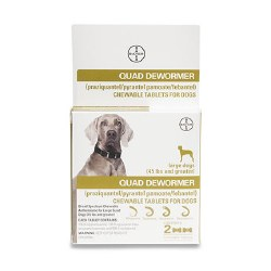 QUAD Dewormer for Dogs - Large - 2 pack