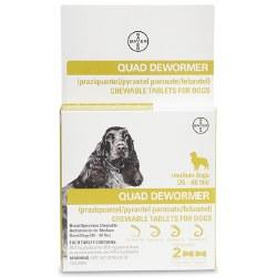 QUAD Dewormer for Dogs - Medium - 2 pack