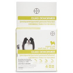QUAD Dewormer for Dogs - Small - 4 pack