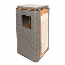 Vesper - Cat Furniture - Cubo Tower - Stone