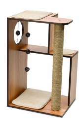 Vesper - Cat Furniture - V-Box - Walnut - Large