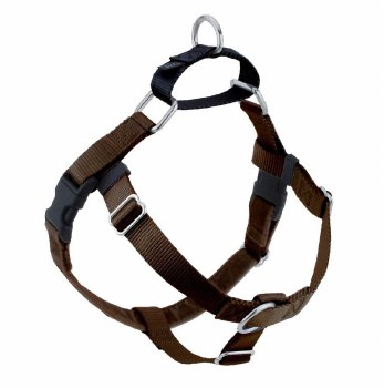 """2 Hounds - Freedom No-Pull Harness - Brown 5/8"""" Wide - Medium"""