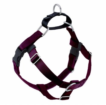 "2 Hounds - Freedom No-Pull Harness - Burgundy 5/8"" Wide - Medium"