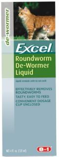 8in1 - Excel - Roundworm Dewormer for Cats - 4 oz