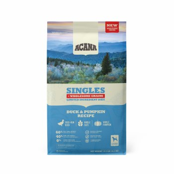Acana Singles - Duck and Pumpkin + Wholesome Grains - Dry Dog Food - 22.5 lbs
