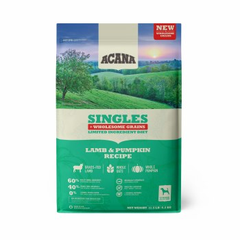Acana Singles - Lamb and Pumpkin + Wholesome Grains - Dry Dog Food - 11.5 lbs