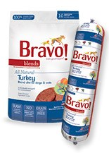 IN STORE AND CURB-SIDE PICK UP ONLY - Bravo - Blends Turkey Chub - Raw Dog Food - 5 lb