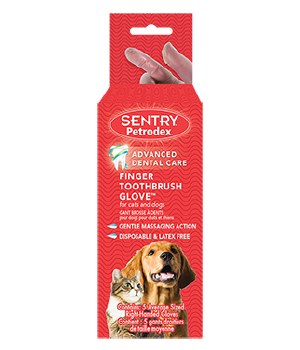 Sentry Petrodex - Finger Toothbrush Gloves - 5 pack