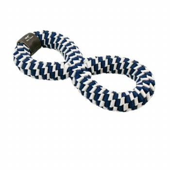 """Tall Tails - Braided Infinity Tug - Dog Toy - Navy - 11"""""""