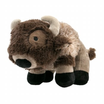 Tall Tails - Plush Buffalo with Squeaker - Dog Toy - 9""