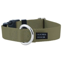"""2 Hounds - Dog Collar - Tan 1"""" Wide - Small"""