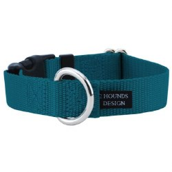 """2 Hounds - Dog Collar - Teal 1"""" Wide - Large"""