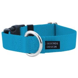 """2 Hounds - Dog Collar - Turquoise 1"""" Wide - Small"""