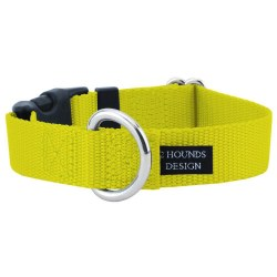 """2 Hounds - Dog Collar - Yellow 1"""" Wide - Small"""