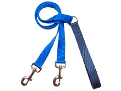 """2 Hounds - Training Leash - Navy 1"""" Wide"""