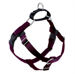 "2 Hounds - Freedom No-Pull Harness - Burgundy 1"" Wide - Large"