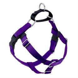 "2 Hounds - Freedom No-Pull Harness - Purple 5/8"" Wide - Medium"